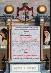 Triduo y veneración Cristo del Amor (Templo de la Concepción -Badajoz-)