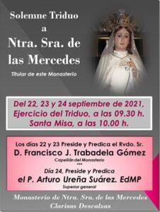 Triduo a Ntra. Sra. de la Merced (Templo Convento de las Descalzas -Badajoz-)